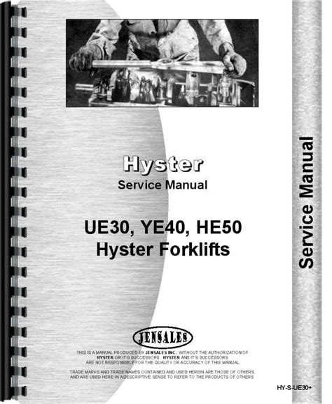 Hyster Brand Forklift Service Manual
