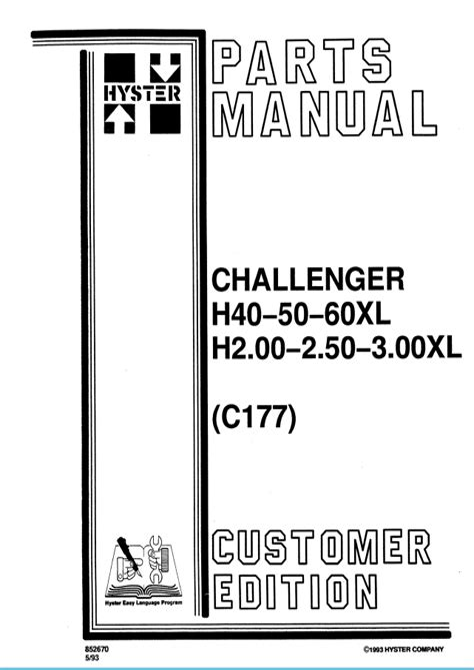 Hyster H50xl Manual