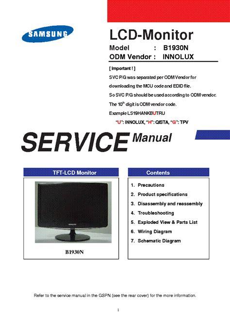 Hyundai Q17 Lcd Monitor Schematic Diagram Manual