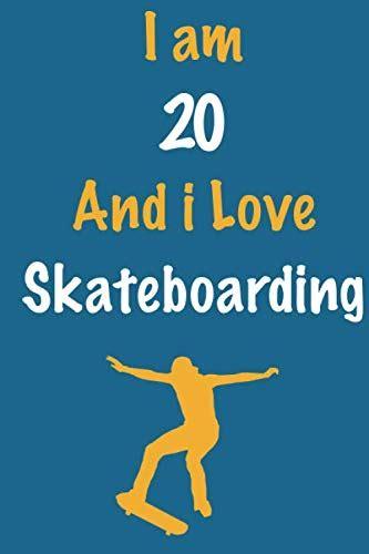 I Love Skateboarding Lined Notebook Journal Ideal Gift For Skateboarders