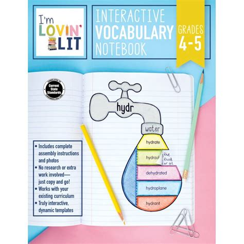 I M Lovin Lit Interactive Vocabulary Notebook Grades 4 5 Greek And Latin Roots And Affixes
