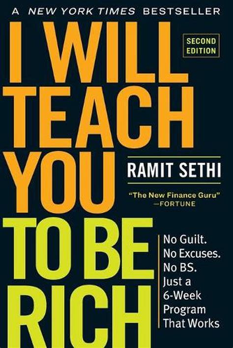 I Will Teach You To Be Rich Second Edition No Guilt No Excuses No B S Just A 6 Week Program That Works English Edition