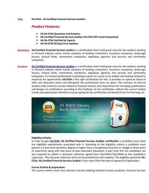 IIA-CFSA-INS Examcollection