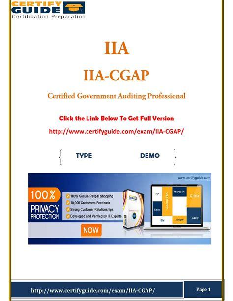 IIA-CGAP-US Zertifikatsfragen