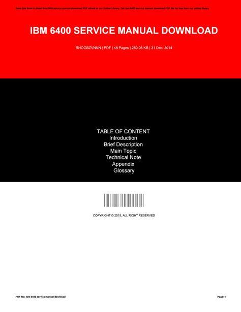 Ibm 6400 Service Manual