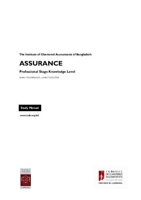 Icab Study Manual Of Asurance