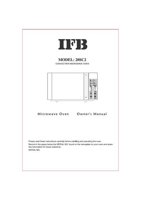 Ifb Washing Machine Product Manual