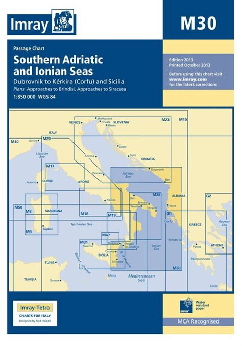 Read Imray Chart M30 Southern Adriatic And Ionian Seas For