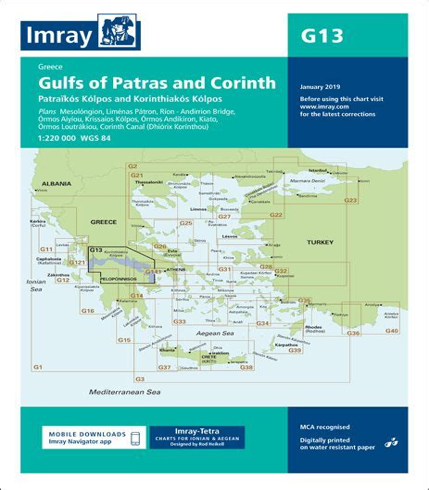 Imray Chart G13 Gulfs Of Patras And