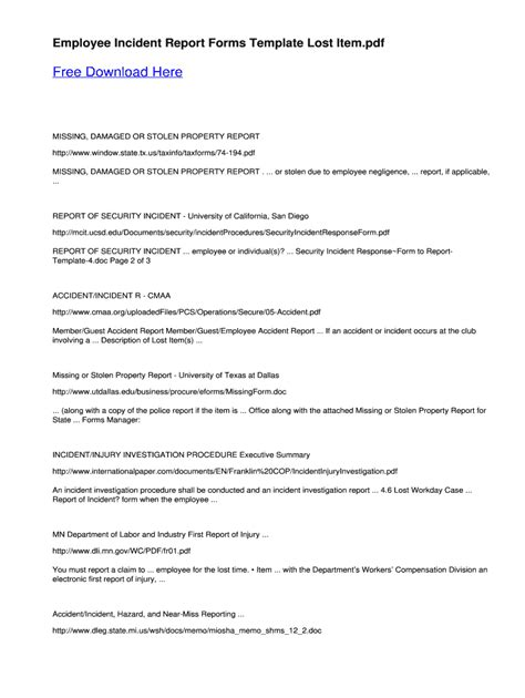 Incident Report Sample Letter from ts2.mm.bing.net