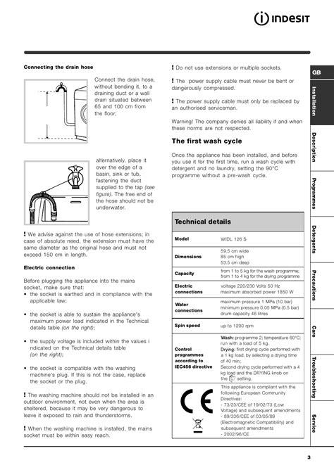 Indesit Service Manual Widl126