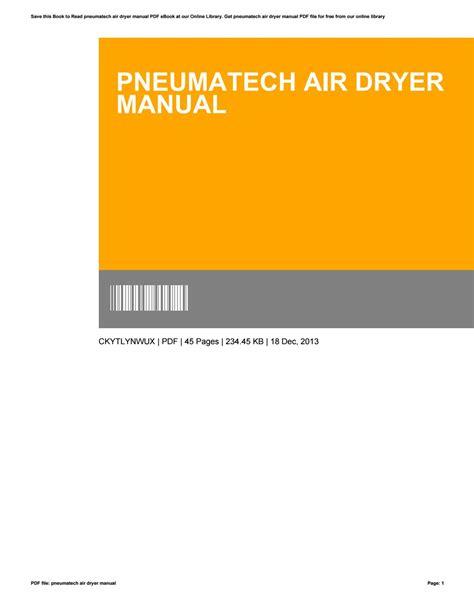 Industrial Air Dryers Manual