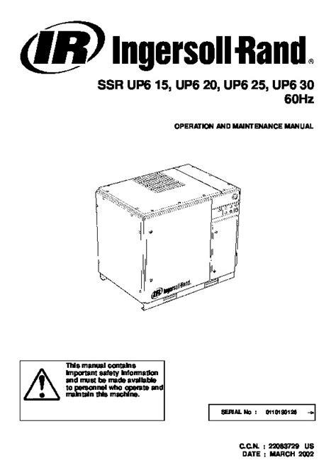 Ingersoll Rand Ssr M55 Manual