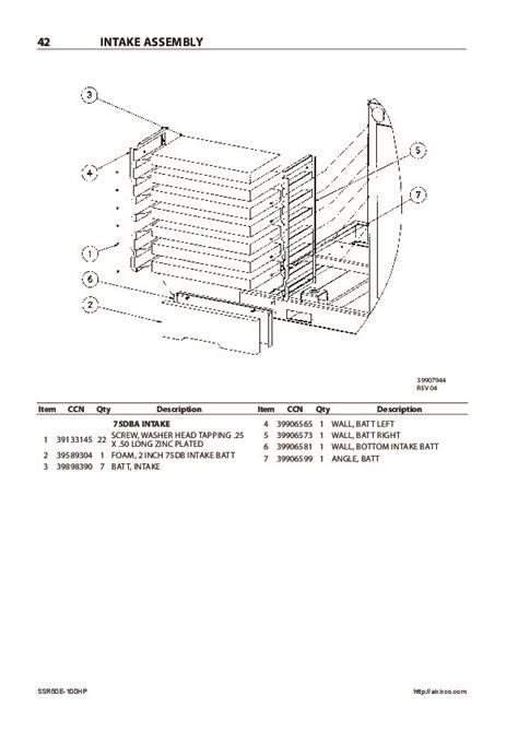 Ingersoll Rand Ssr Ml 110 Parts Manual