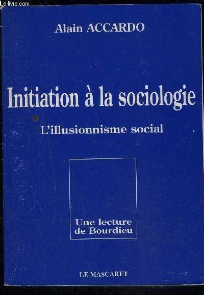 Initiation à la sociologie (Documents pédagogiques)