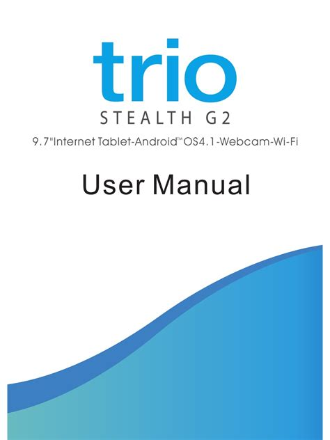 Instruction Manual Trio Stealth