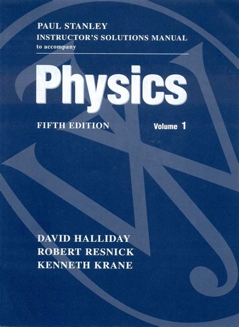 Instructor Solution Manual Halliday Resnick