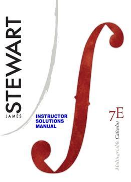 Instructor Stewart Multivariable Calculus Solutions Manual