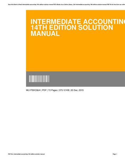 Intermediate Accounting 14e Solution Manual Ch 8