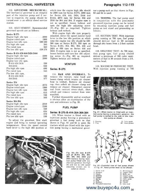 International B414 Workshop Manual