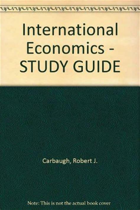 International Economics With Studyguide