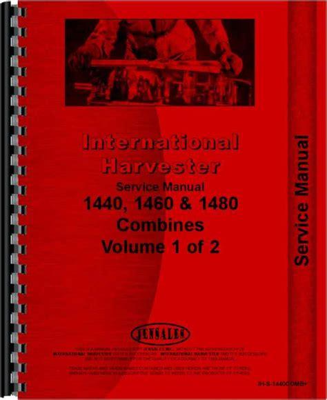 International Harvester 1440 Combine Engine Manual
