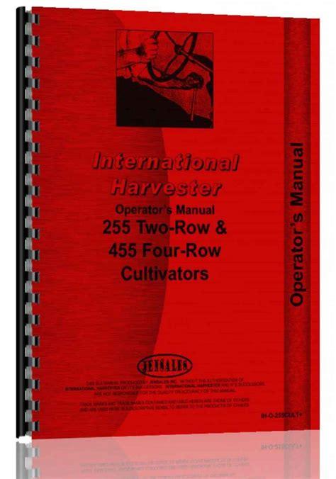 International Harvester 255 Tractor Manual