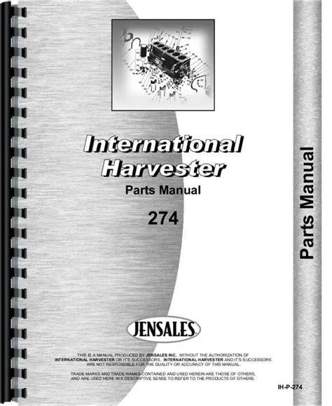 International Harvester 274 Tractor Manual