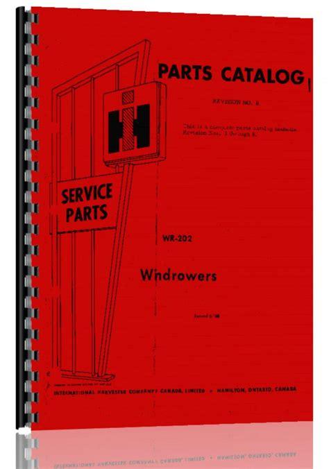 International Harvester 275 Windrower Manual
