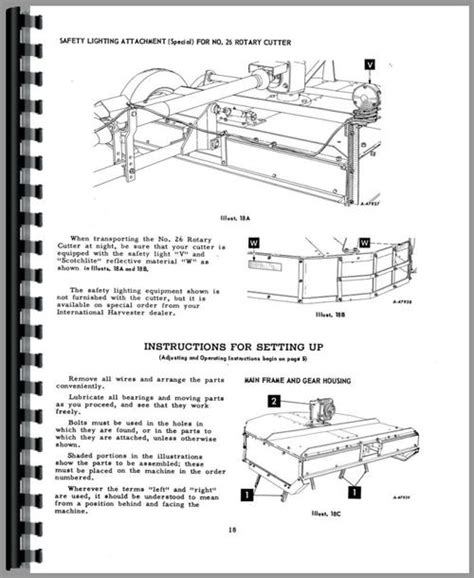 International Harvester All Rotary Cutter Fast Hitch Manual