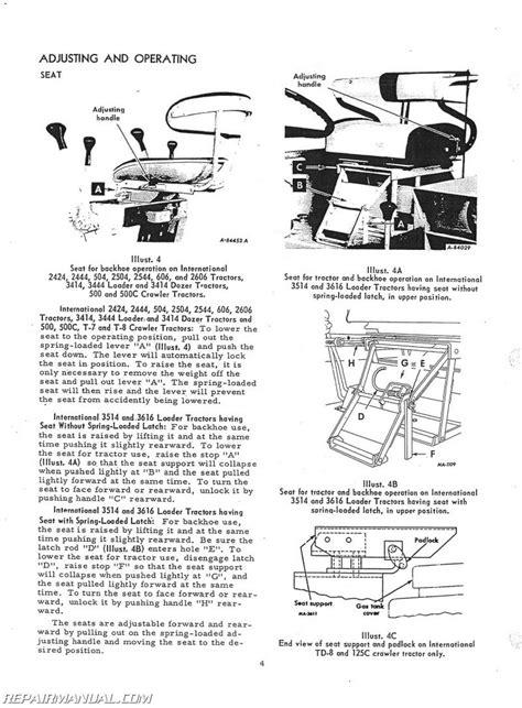 International Harvester Backhoe Attachment Factory Operators Manual Js Ih O 3121 Plus
