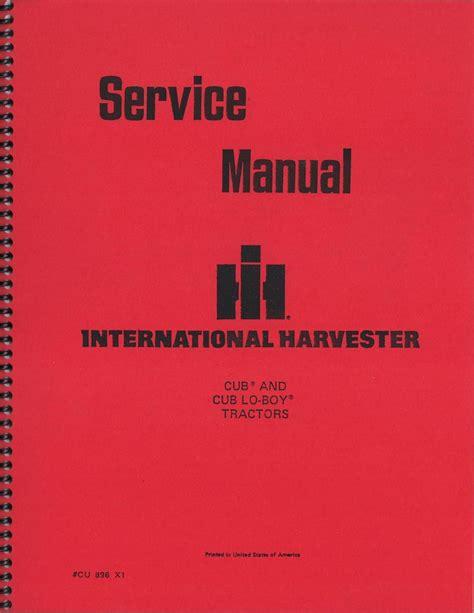 International Harvester Cub And Cub Lo Boy Factory Service Manual Js Ih S Cub