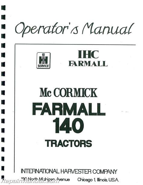 International Harvester Farmall 140 Factory Service Manual Js Ih S 140