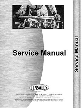 International Harvester Super Mdv Tractor Engine Manual