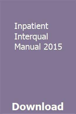 Interqual Manual 2015