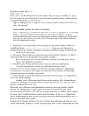 Introducing Psychology And Study Guide