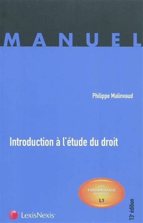 Introduction A L Etude Du Droit 2018 2019