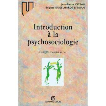 Introduction A La Psychosociologie Concepts Et Etudes De Cas