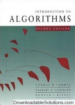 Introduction To Algorithms 2nd Edition Solution Manual
