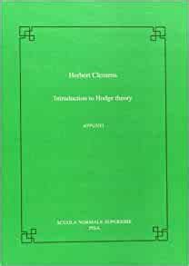 Introduction To Hodge Theory Appunti