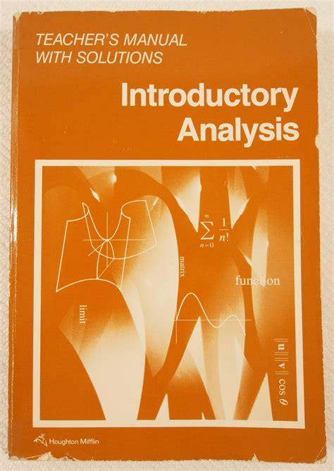 Introductory Analysis Teacher S Manual With Solutions