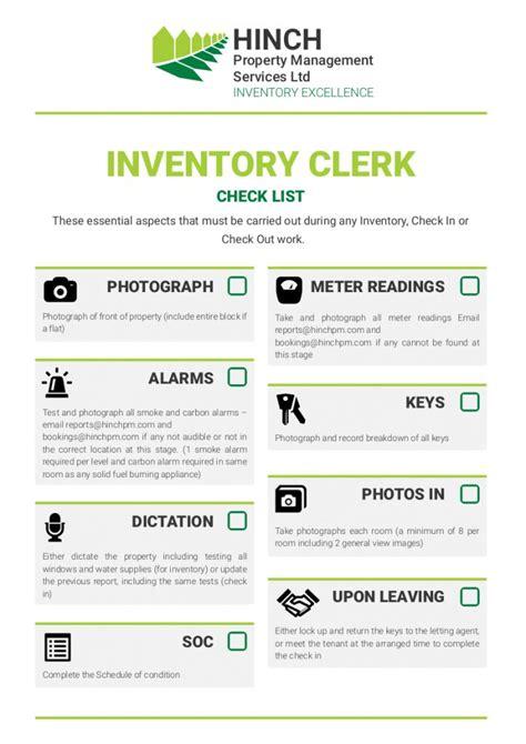 Inventory Clerk Guide