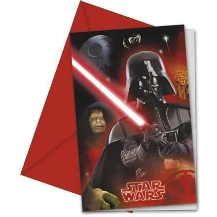 Invitations Anniversaire Star Wars X6