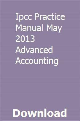 Ipcc Practice Manual 2013