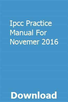 Ipcc Practice Manual 2016