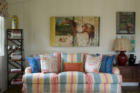 Irish Country Style Decorating With Pottery Fabric And Furniture
