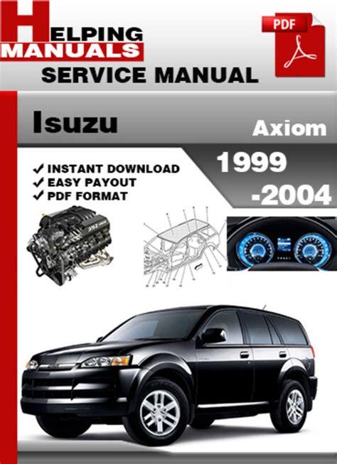 Isuzu Axiom Full Service Repair Manual 2001 2004
