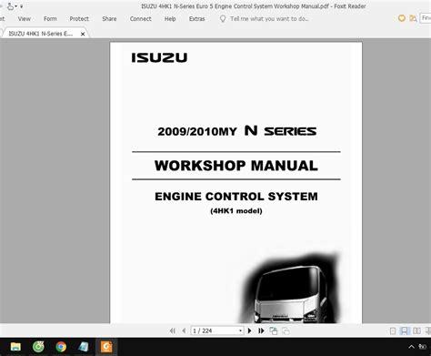 Isuzu Truck Engine Manual Euro 5 4hk1