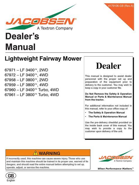 Jacobsen Lf 3400 Service Manual