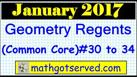 January 26 January 2012 Geometry Regents Answers